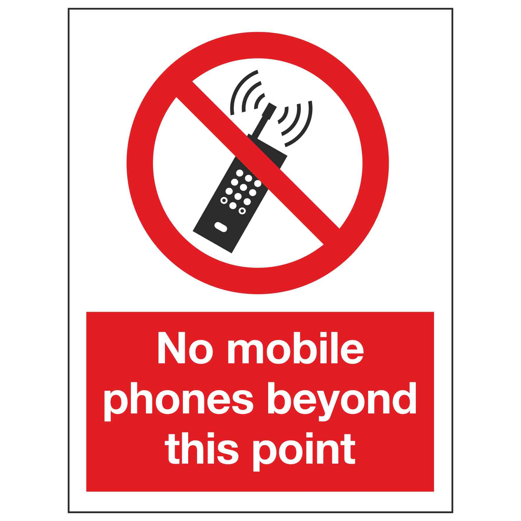 This is a photo of Trust No Cell Phone Sign Printable