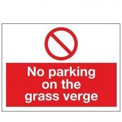 No parking on the grass verge