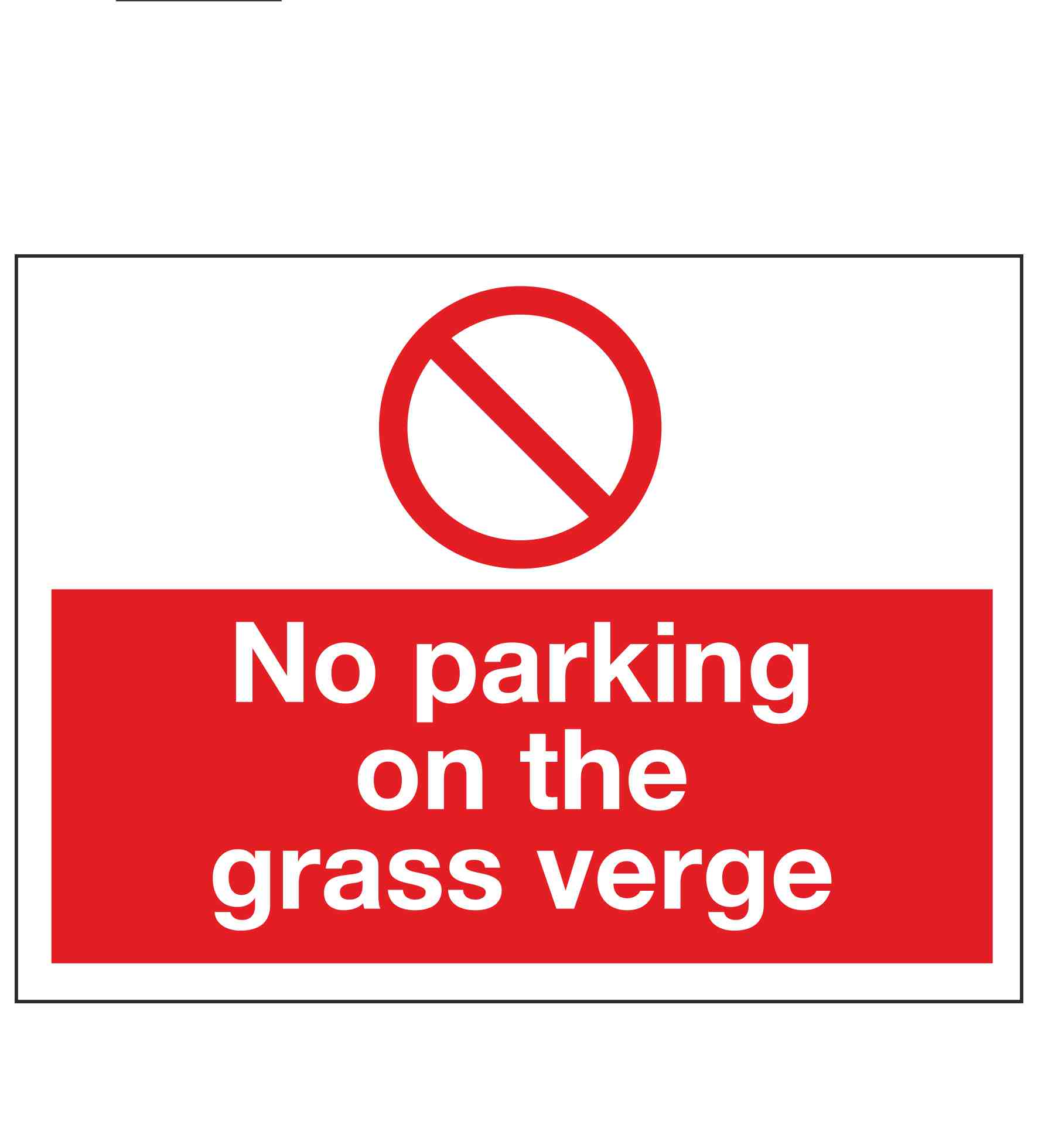 photo relating to Printable No Parking Signs named No parking upon the gr verge