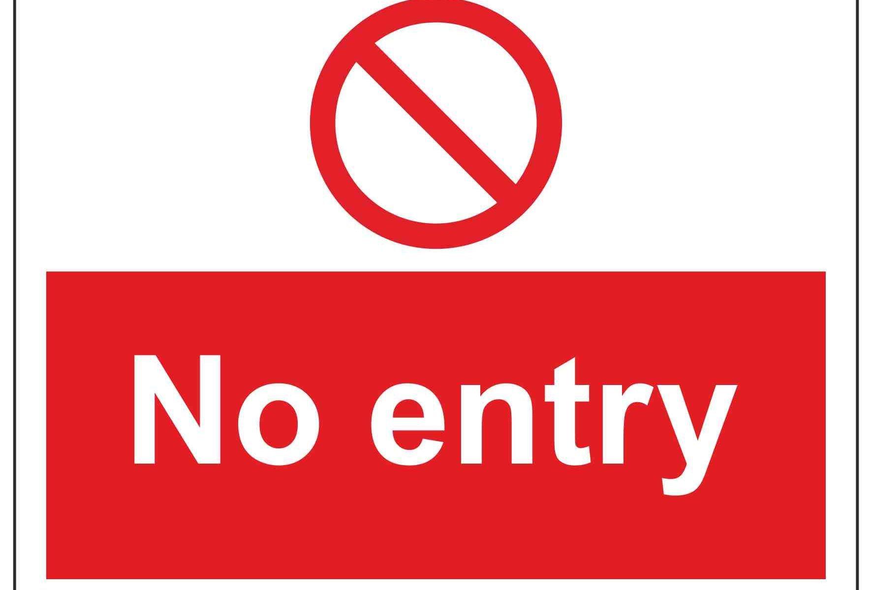 No entry Landscape
