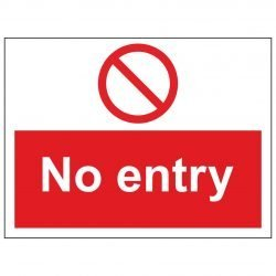 No entry Landscape