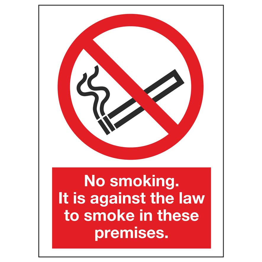 picture about Printable No Smoking Sign referred to as No using tobacco. It is towards the legislation in the direction of smoke within these kinds of premises.