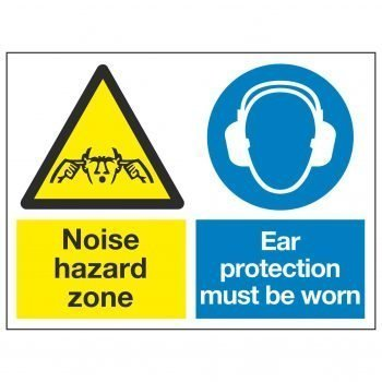 Noise hazard zone / Ear protection must be worn