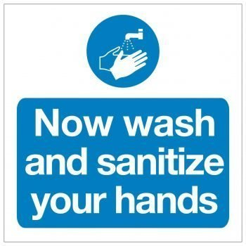 Now wash and sanitize your hands