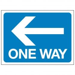 ONE WAY (Arrow pointing left)