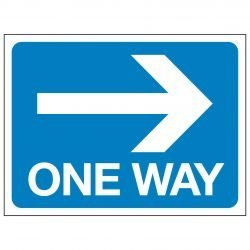 ONE WAY (Arrow pointing right)