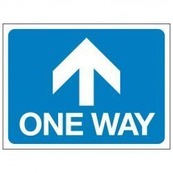 ONE WAY (Arrow pointing forwards)