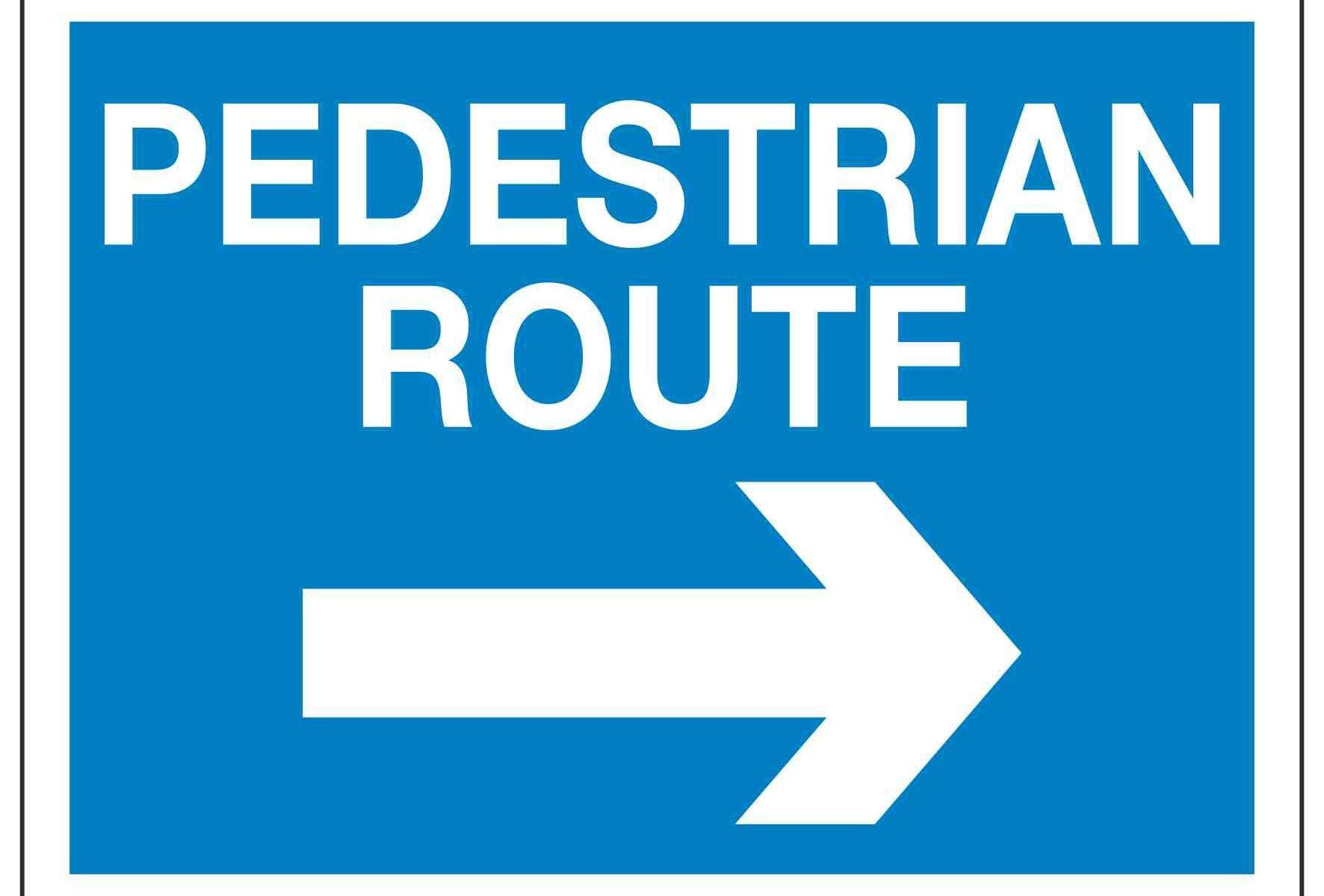 PEDESTRIAN ROUTE (Arrow Right)