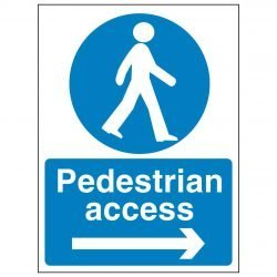 Pedestrian access (Arrow Right)