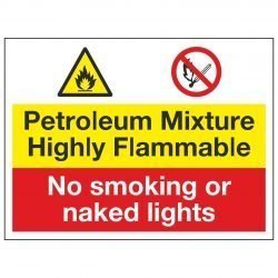 Petroleum mixture Highly Flammable / No smoking or naked lights