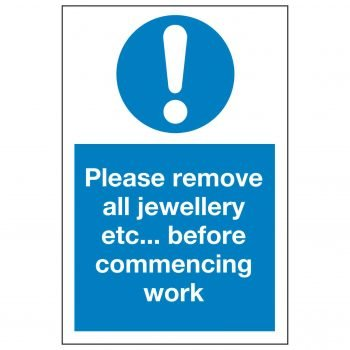 Please remove all jewellery etc... before commencing work