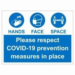 Please respect COVID-19 prevention measures in place
