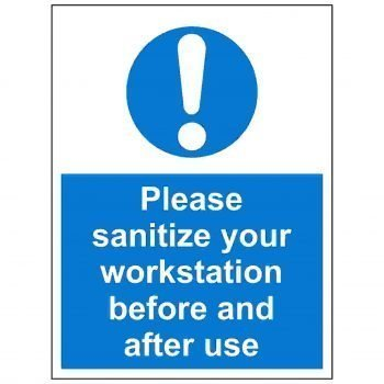 Please sanitize your workstation before use