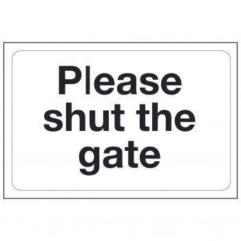 Please shut the gate
