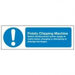 Potato Chipping Machine Switch off disconnect power supply at mains before changing or attempting to dislodge blockages.