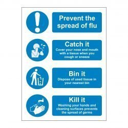 Prevent the spread of flu - Catch it - Bin it - Kill it