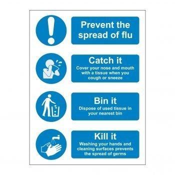 Prevent the spread of flu - Catch it - Bin it - Kill it