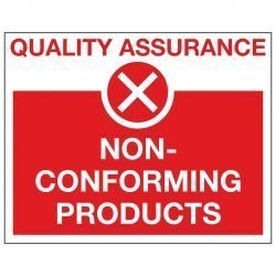 QUALITY ASSURANCE X NON-CONFORMING PRODUCTS