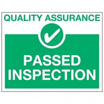 QUALITY ASSURANCE ✓ PASSED INSPECTION
