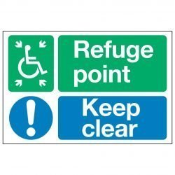 Refuge point / Keep clear
