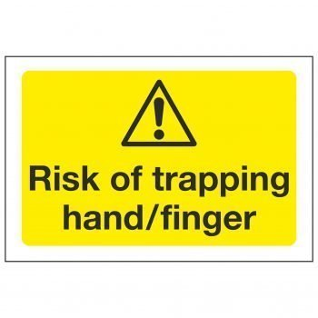 Risk of trapping hand/finger