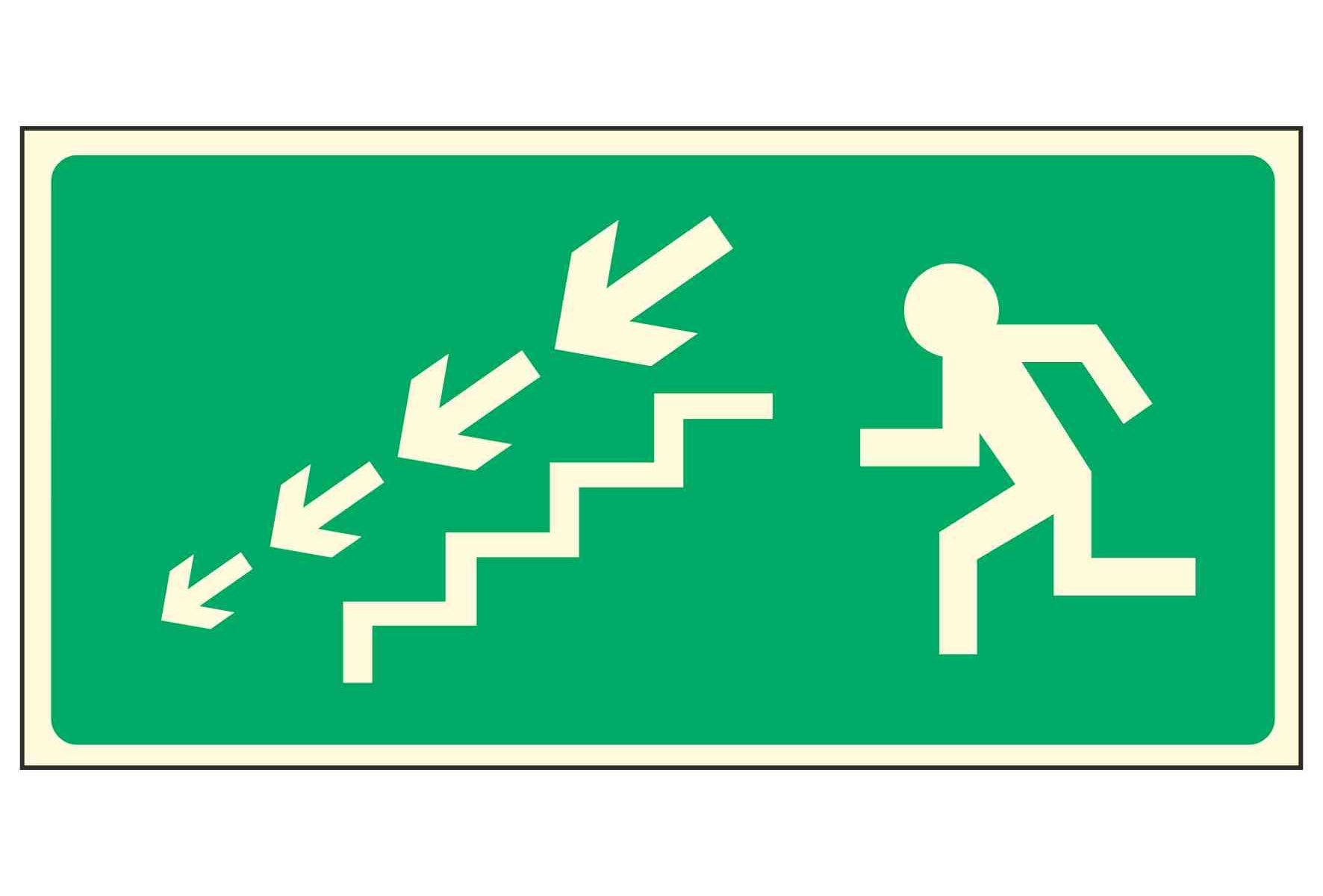 Running Man Left / Stairs Down Left Arrows - EEC 92/58