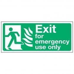 Exit for emergency use only / Running Man Left - NHS