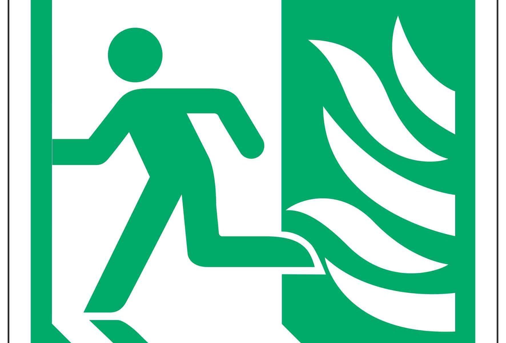 Running Man Left / NHS Symbol