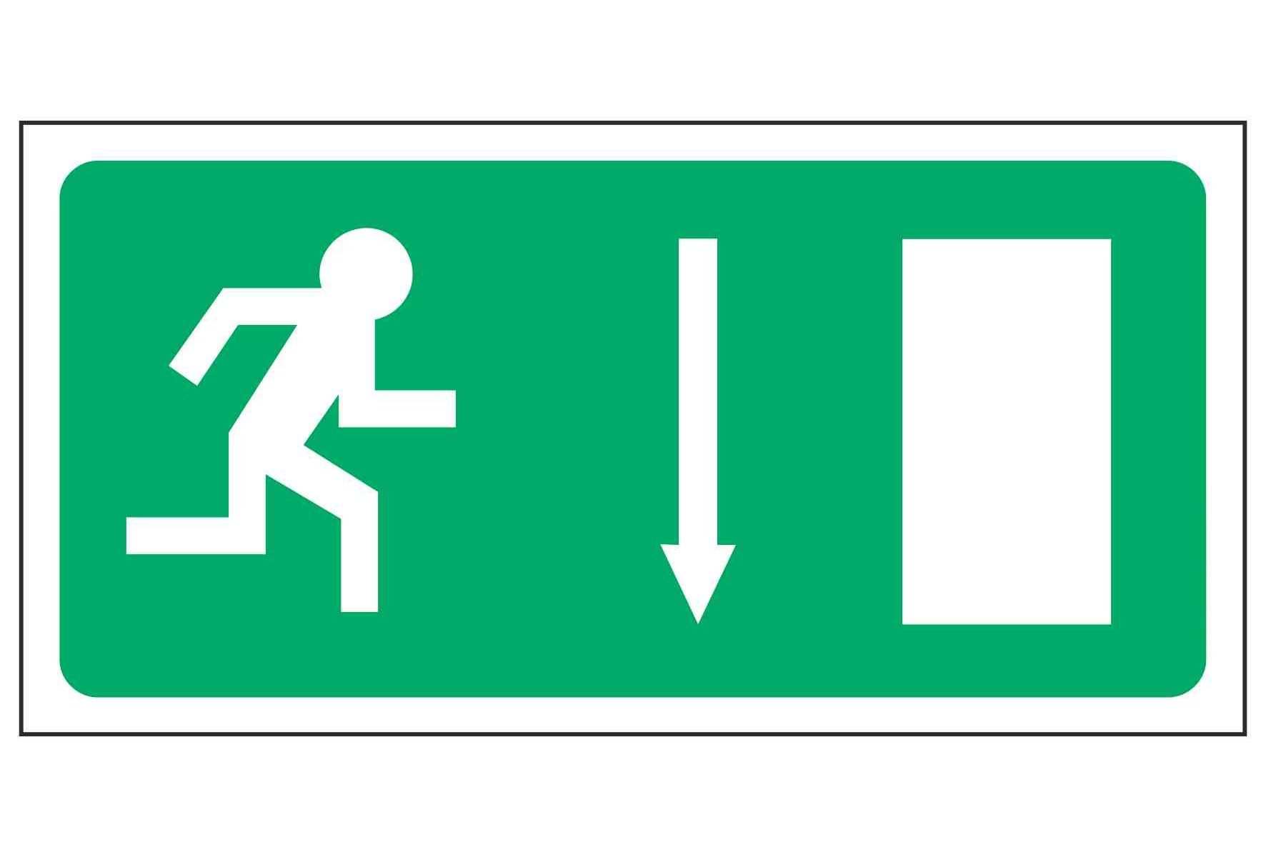 Running Man Right / Arrow Down - EEC 92/58