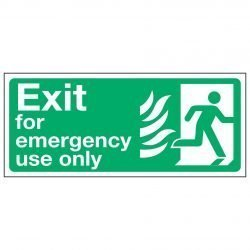 Exit for emergency use only / Running Man Right - NHS