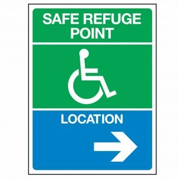 SAFE REFUGE POINT LOCATION (Arrow Right)