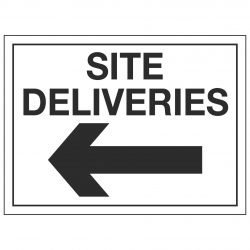 SITE DELIVERIES (Arrow Left)