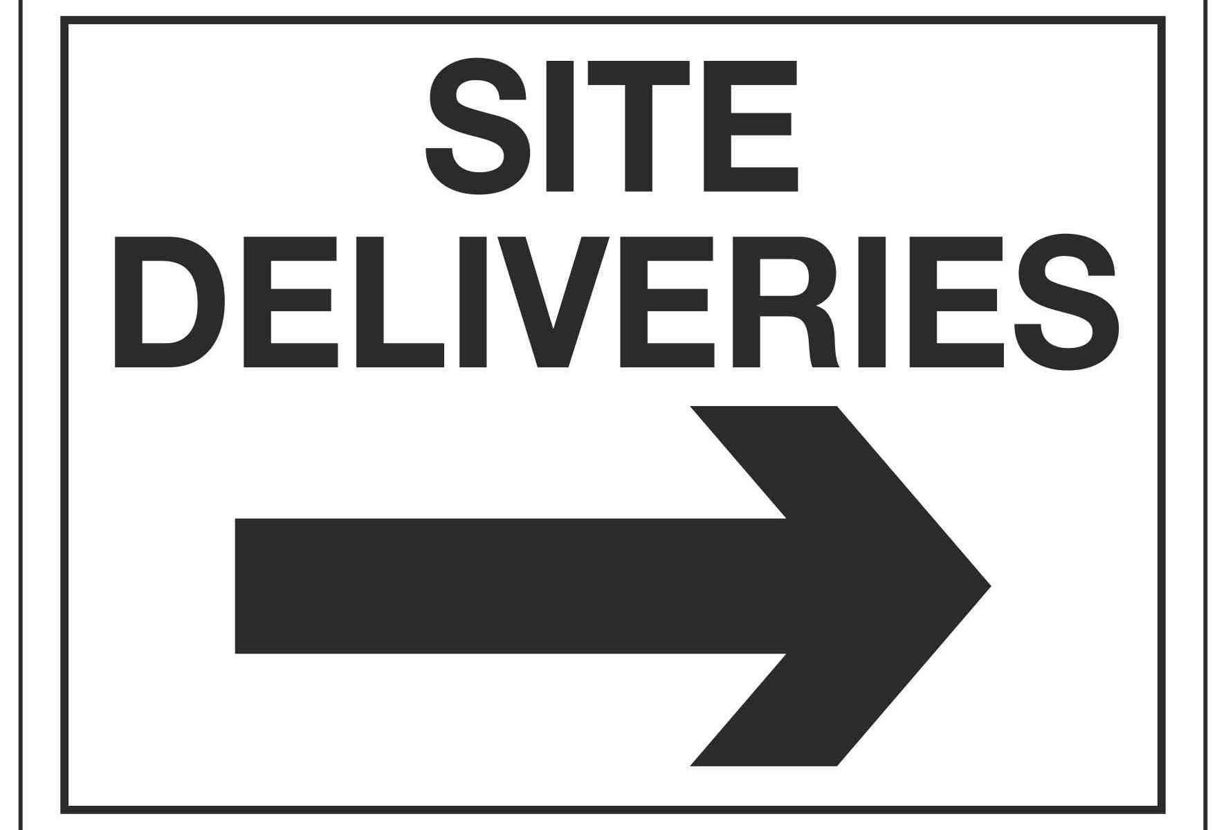 SITE DELIVERIES (Arrow right)