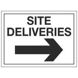 SITE DELIVERIES (Arrow right)