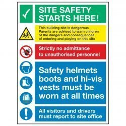SITE SAFETY STARTS HERE!