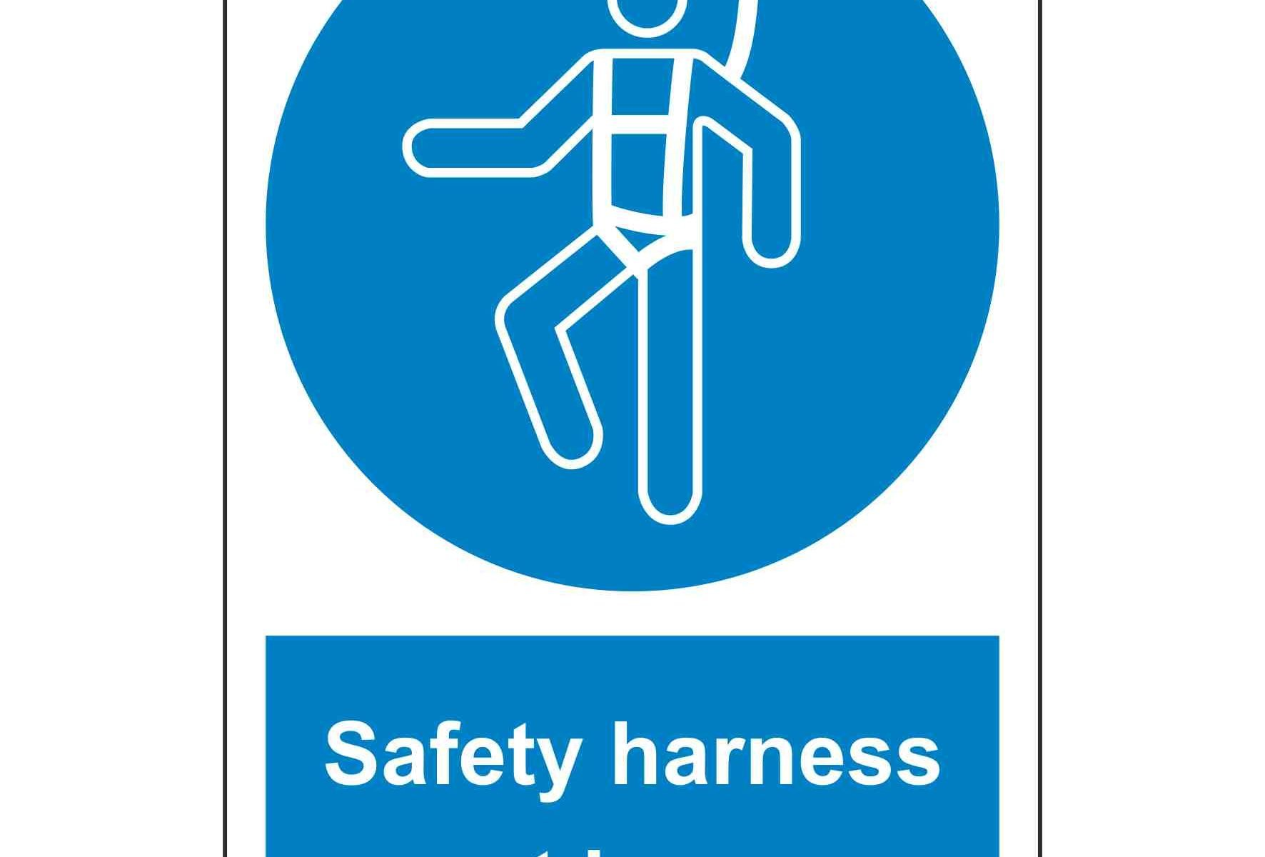Safety harness must be worn