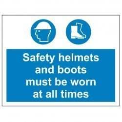 Safety helmets and boots must be worn at all times