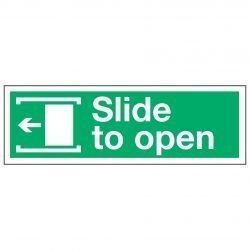 Slide to open / Arrow Left