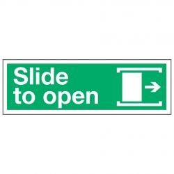 Slide to open / Arrow Right