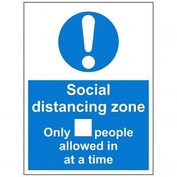 Social distancing zone only x people