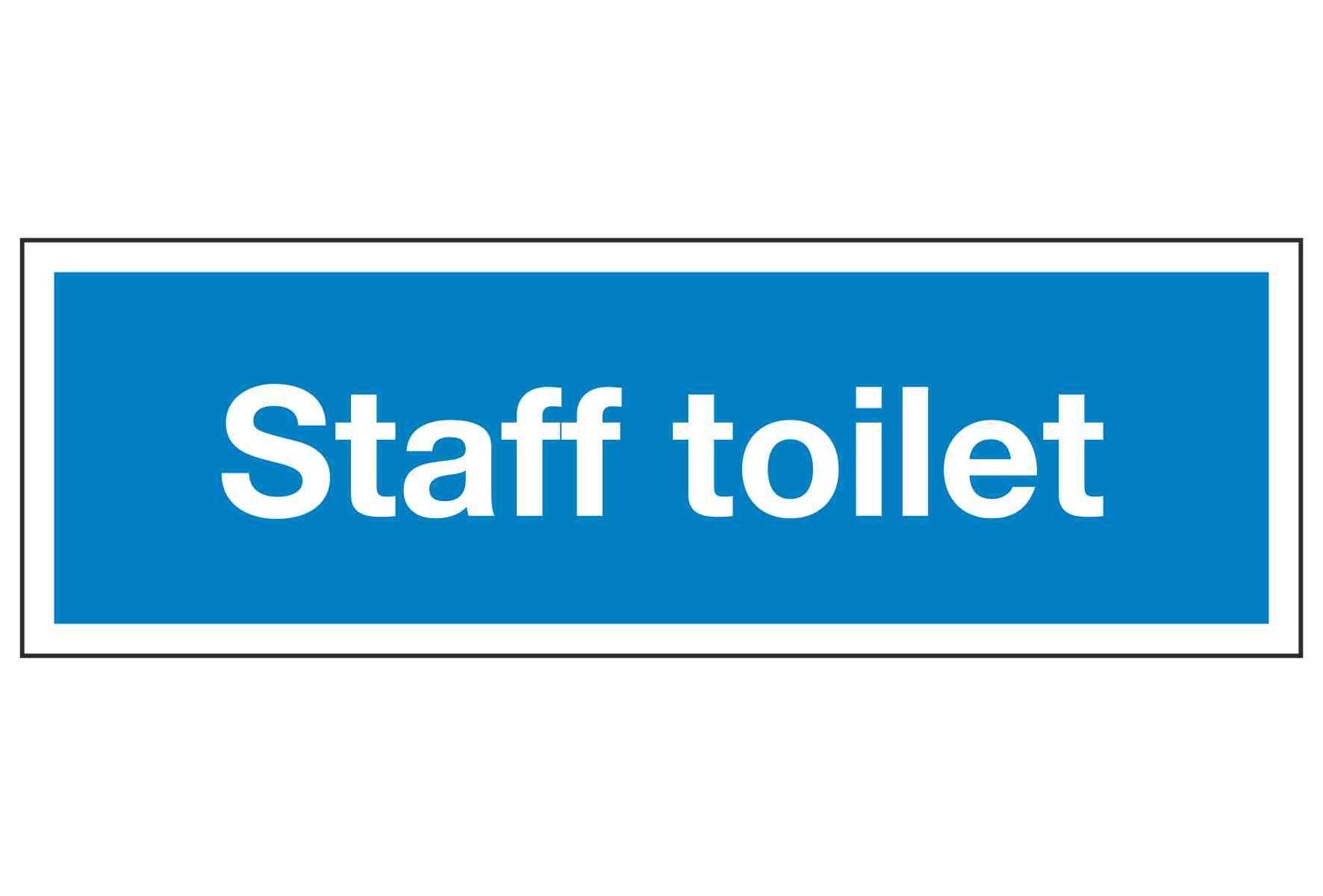 Staff toilet