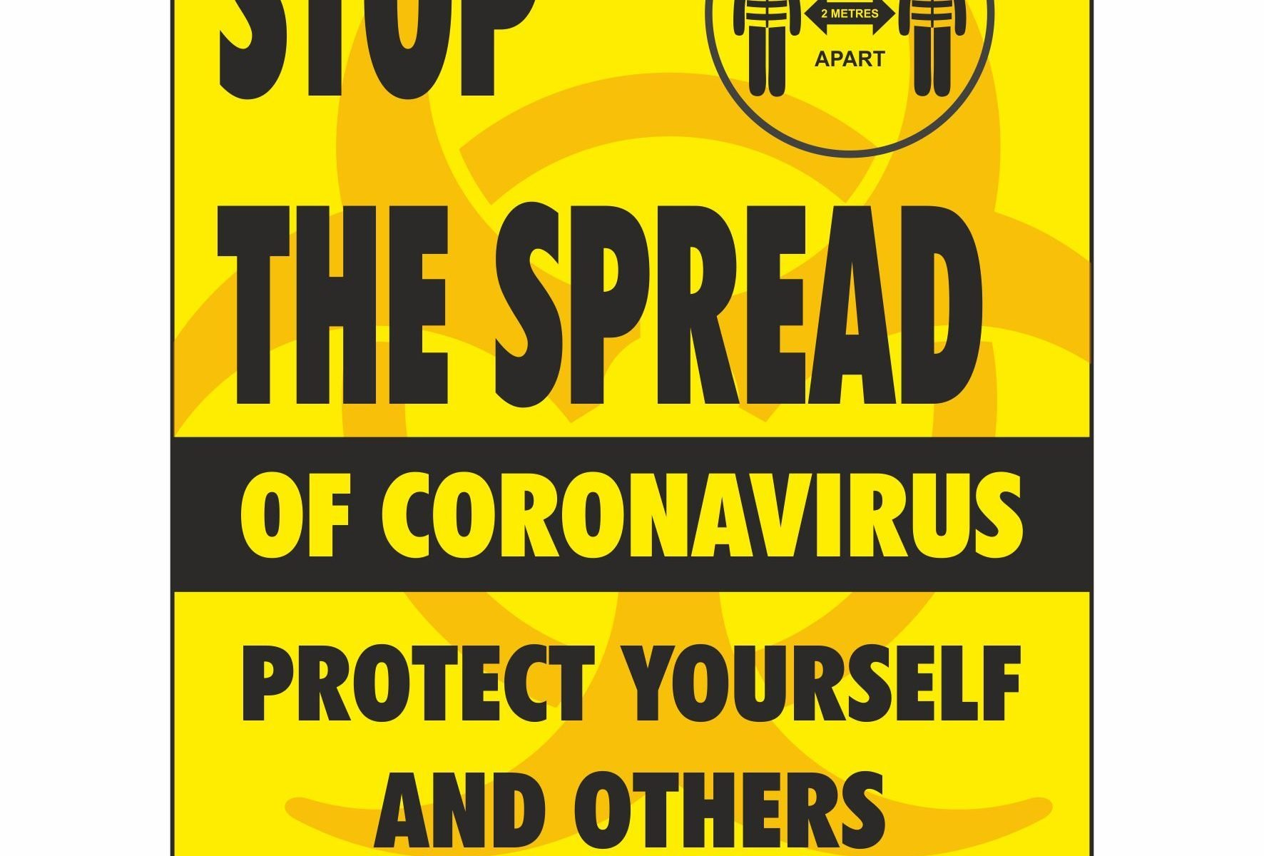 Stop the spread of coronavirus protect yourself and others around you