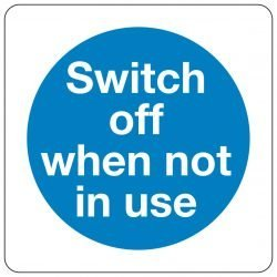 Switch off when not in use