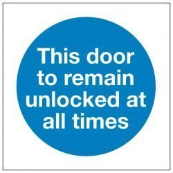 This door to remain unlocked at all times