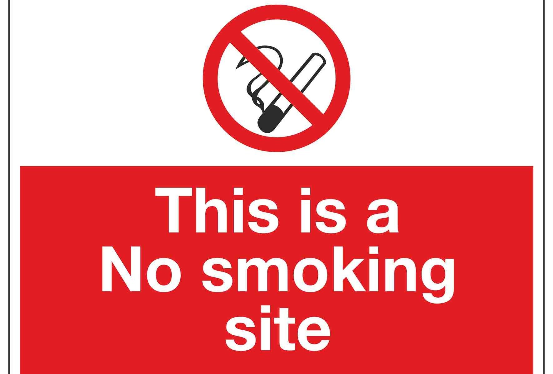 This is a No smoking site