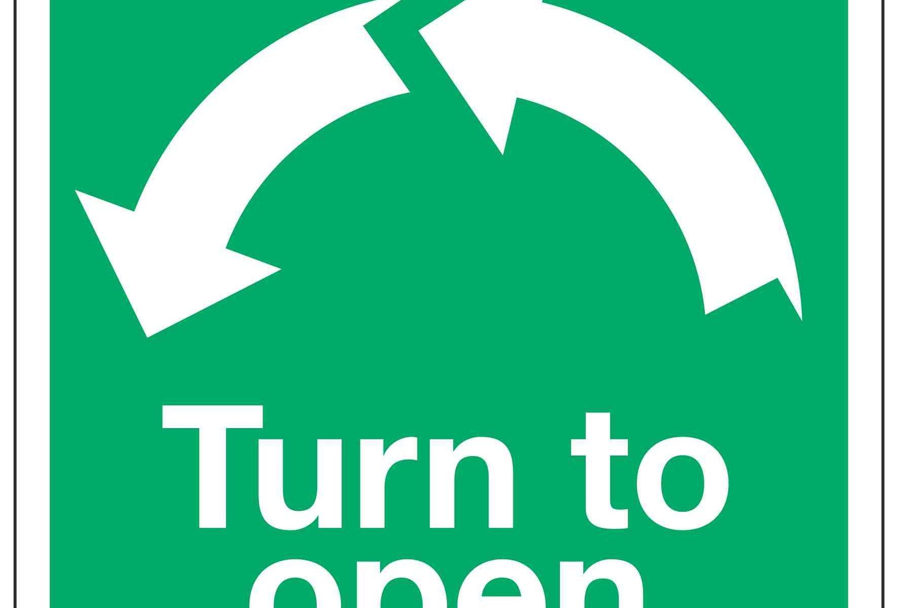 Turn to open / Anti-clockwise Arrows