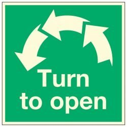 Turn to open / Anti-clockwise Arrows