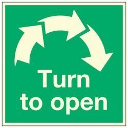 Turn to open / Clockwise Arrows