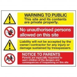WARNING TO PUBLIC This site and its contents are private property.