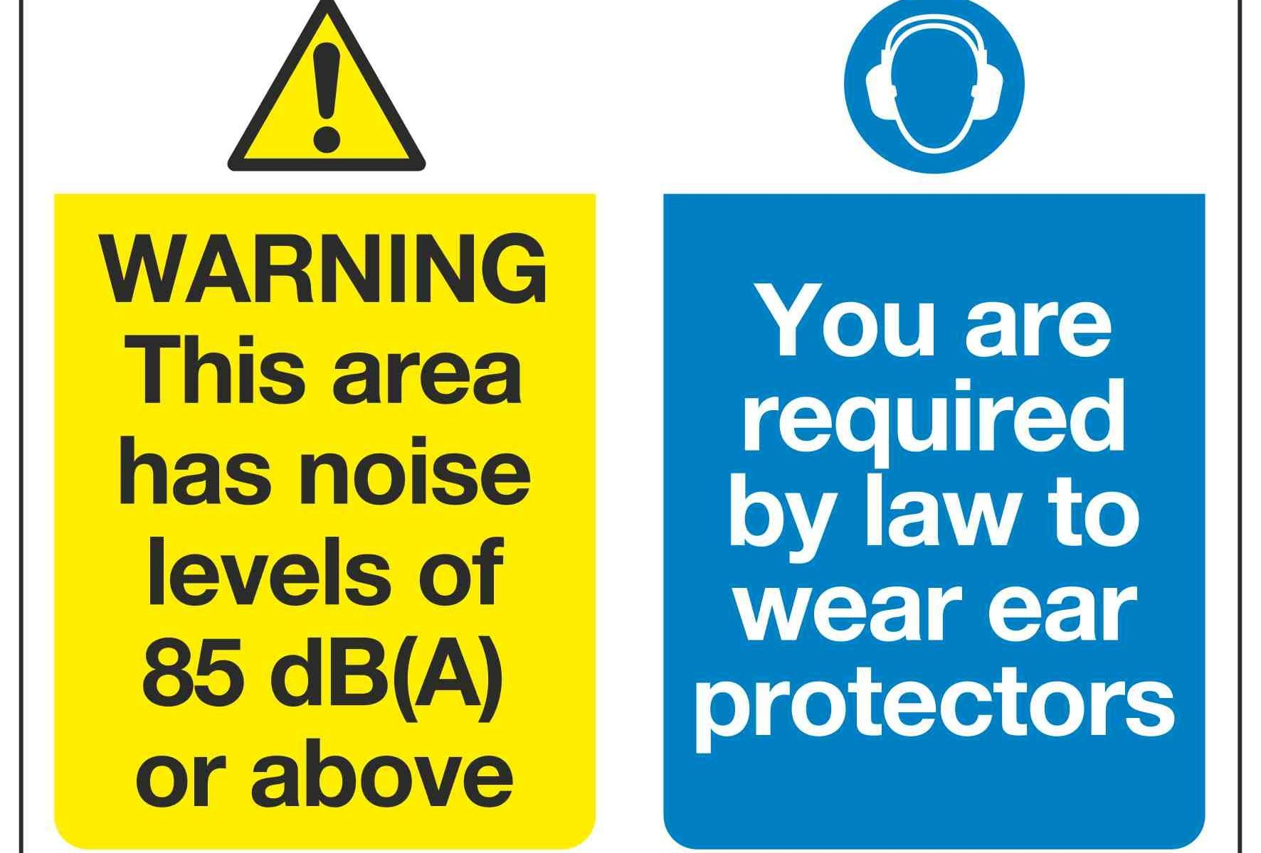 WARNING This area has noise levels of 85 dB